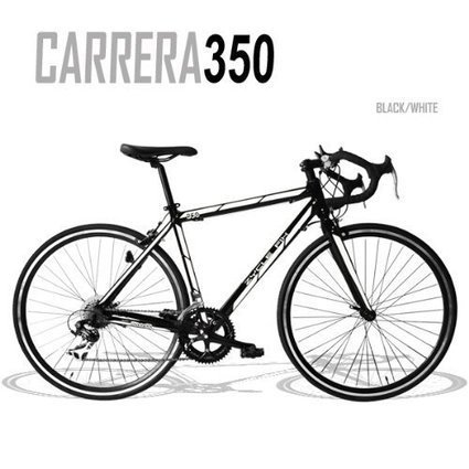 Zycle Fix 54 CM Carrera 350 Black White Fixed Gear Cycle Fixie Bicycle 54cm c9332cb0d