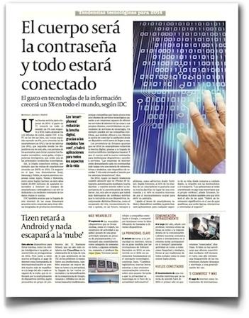 Tendencias tecnológicas para 2014, en Cinco Días | Tecnología móvil | Scoop.it