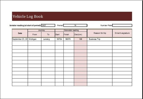 Vehicle' In Collection Of Microsoft Word & Excel Templates | Scoop.It