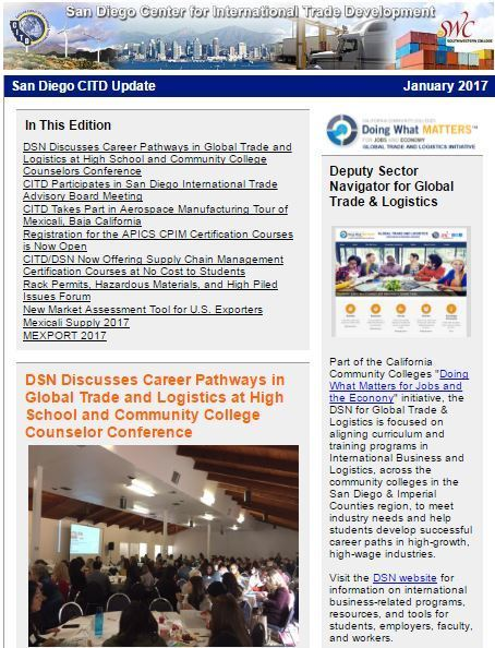 Latest News from the San Diego CITD - January 2017   International Trade   Scoop.it