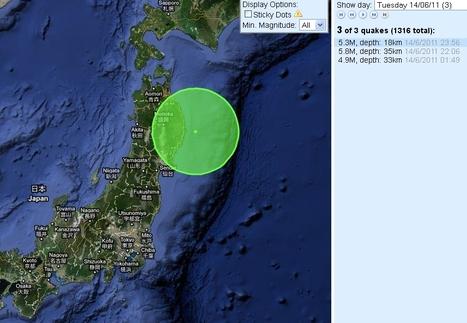 [séismes] De fortes répliques sur l'Est du Japon aujourd'hui | Japan Quake Map | Japon : séisme, tsunami & conséquences | Scoop.it
