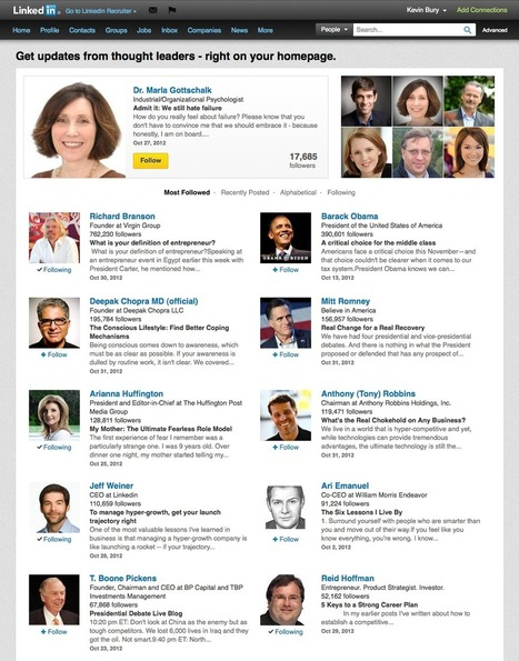 LinkedIn Blog - Announcing LinkedIn's Most Followed Thought Leaders | Why the social networks are my life | Scoop.it