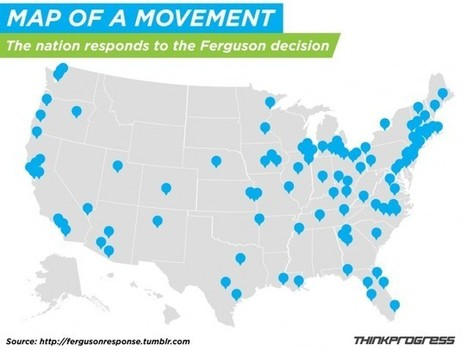 MAP: Country Lights Up With Ferguson Solidarity Protests - ThinkProgress | Geolocated | Scoop.it