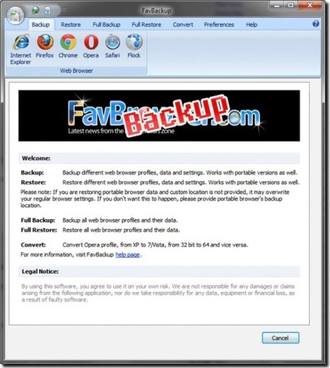 FavBackup: A useful tool to backup and restore personal browser data | Time to Learn | Scoop.it