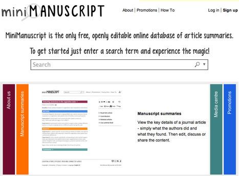 MiniManuscript - summarised research papers | Arsenal news | Scoop.it