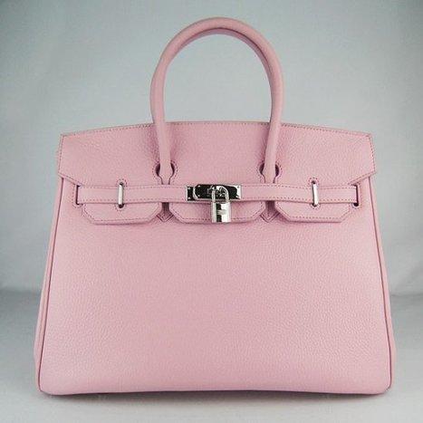 a80f68ead56e Wholesale Réplique Hermes Birkin 35CM meilleur cuir rose argenté Togo -  €330.00   réplique sac a main, sac a main pas cher, sac de marque
