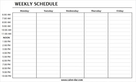 Weekly Planner In Printable Calendar Scoop