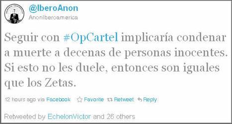 Anonymous cancela #OpCartel por amenazas | Aspectos Legales de las Tecnologías de Información | Scoop.it