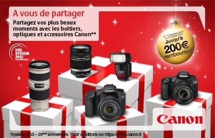 Canon vous rembourse jusqu'à 200 euros (jusqu'au 20/01/2013) | Photography Stuff For You | Scoop.it
