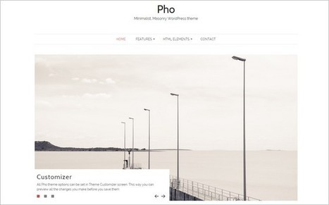 Pho - A Free Masonry WordPress Theme | Free & Premium WordPress Themes | Scoop.it