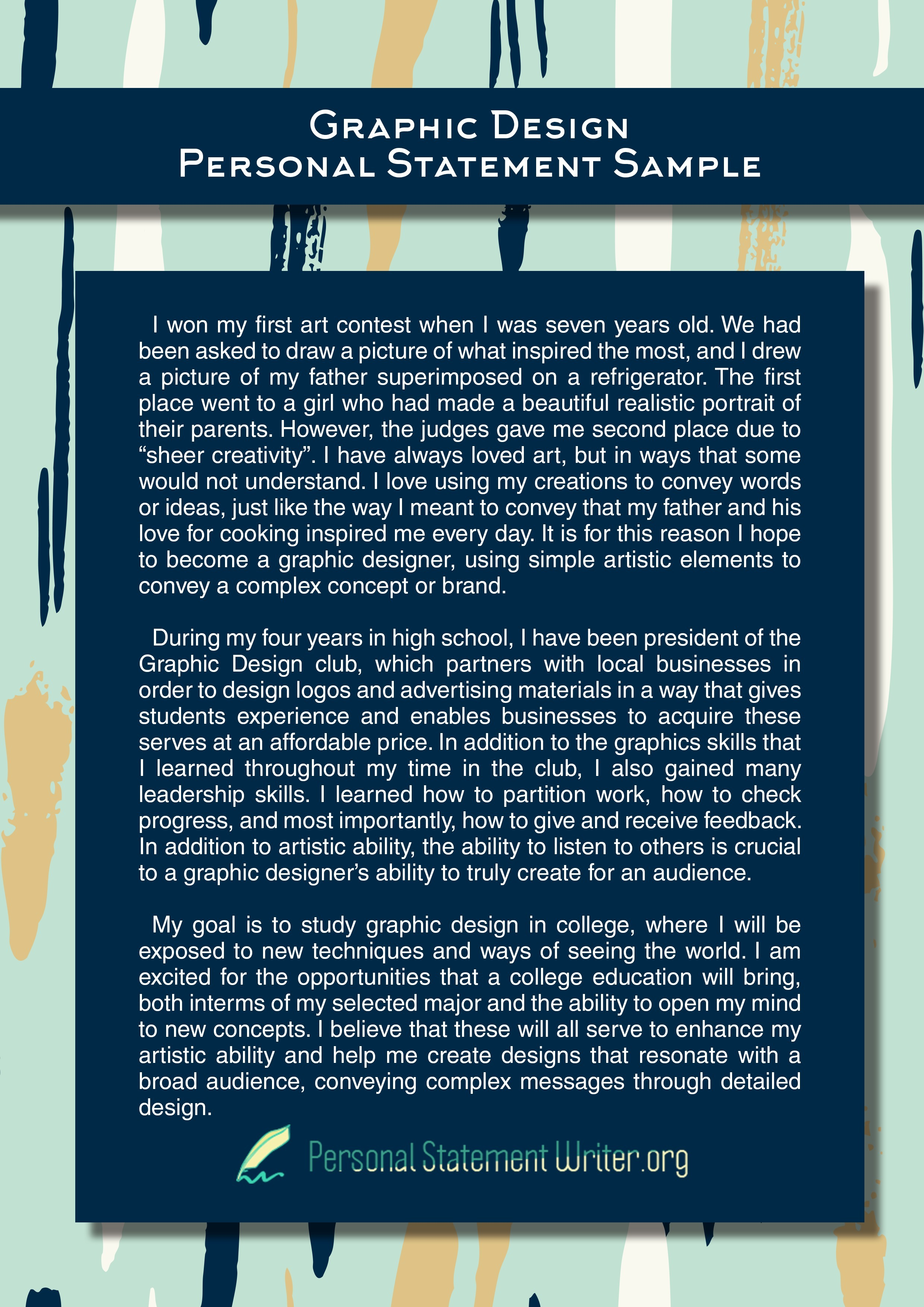 Graphic Design Personal Statement Examples