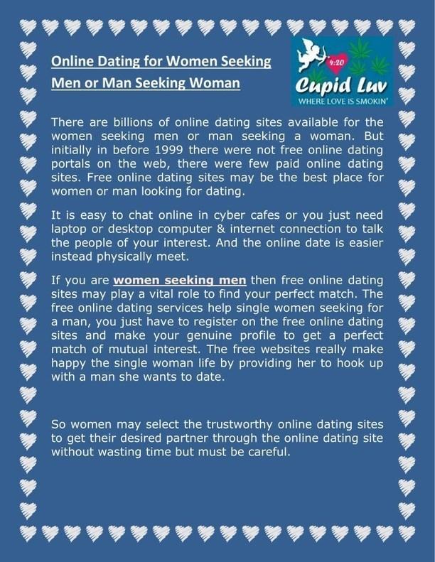 Woman seeking man website