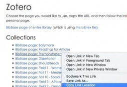 How to Embed a Zotero Bibliography in a Web Page | Zotero | Scoop.it