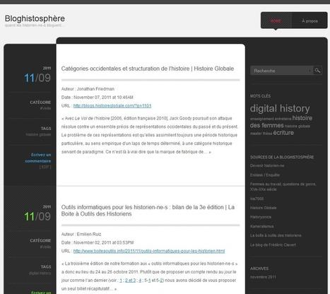 Bloghistosphère | N'habite presque plus à l'adresse indiquée ! | Bloghistosphère | Scoop.it