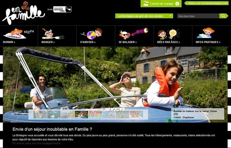 Mise en ligne du site affinitaire famille par le Comité Régional du Tourisme de Bretagne   Actu tourisme Pays de Redon   Scoop.it