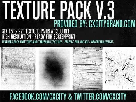 Free Screen Print Ready Texture Pack Download by CX.CITY   CX.CITY   Webdesign Freebies   Scoop.it