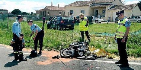 gard un motard trouve la mort sur la route de. Black Bedroom Furniture Sets. Home Design Ideas