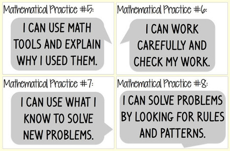 Everybody is a Genius: Kid Friendly Mathematical Practices Posters | Math Resources | Scoop.it