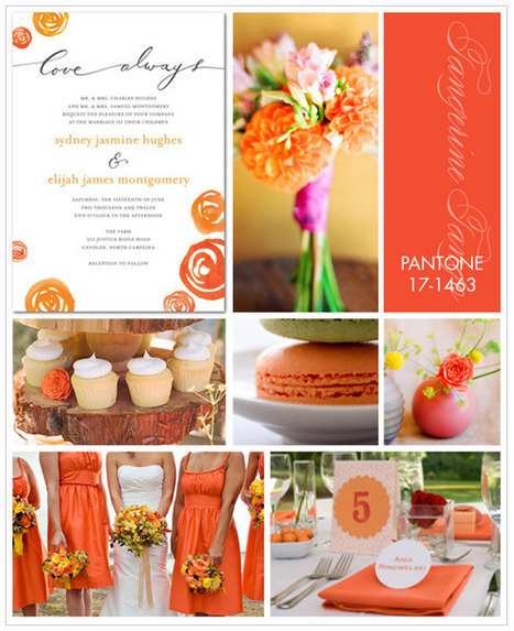 2012 Trends: Pantone Color of the Year, Tangerine Tango « Wedding Style, Planning & Inspiration | the Wedding Paper Divas Blog | Getting Married in South West France | Scoop.it