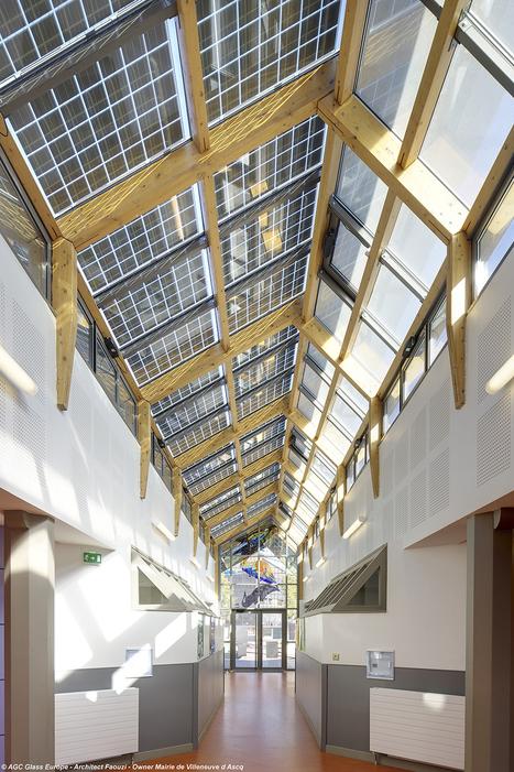 Le verre photovoltaïque SunEwat XL s'applique aussi en allèges   Le flux d'Infogreen.lu   Scoop.it