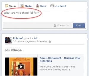 New Facebook Status Update Question Today: 'What Are You Thankful For?' - Forbes | Funny Facebook Statuses | Scoop.it