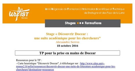 Stage_Docear_TP_2016-10-18.doc | Cartes mentales | Scoop.it