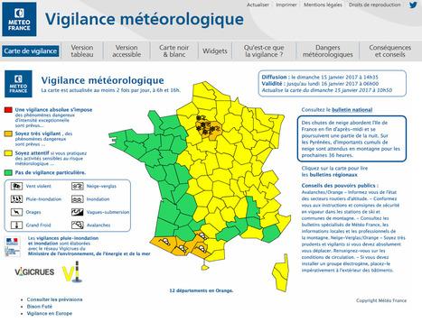 Vigilance orange avalanche pour les Pyrénées - Météo France | Vallée d'Aure - Pyrénées | Scoop.it