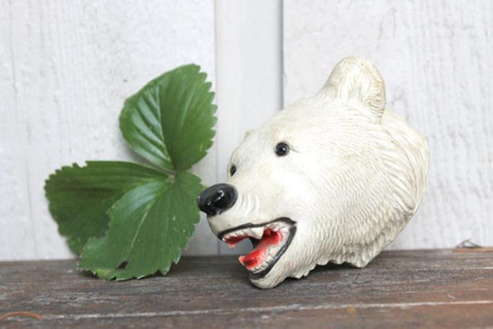 Vintage Chalkware Polar Bear Head | Kitsch | Scoop.it