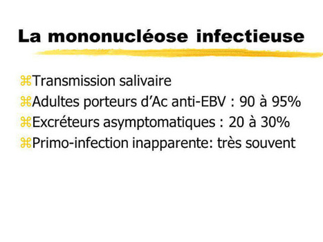 Cours PDF   Mononucléose infectieuse ; E...