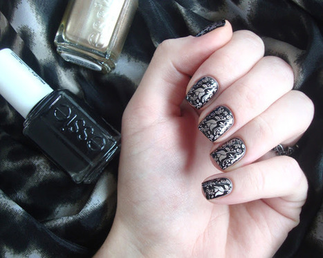 Coco's nails: Stamping cuivré sur fond noir avec Essie | Nails and manicure | Scoop.it