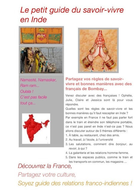 A1 >C2 Les bonnes manières en Inde et en France - Mumbai - Grenoble   Etandems, exemples et conseils   Scoop.it