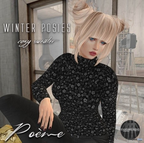 Winter Posies Cozy Sweater Teleport Hub Group Gift by {Poeme} | Teleport Hub - Second Life Freebies | Second Life Freebies | Scoop.it