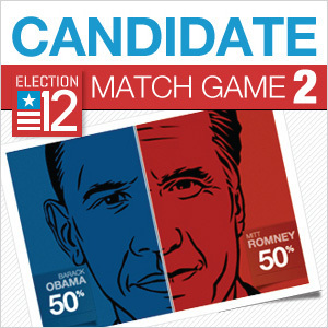 2012 Election: Candidate Match Game II   data visualization   Scoop.it