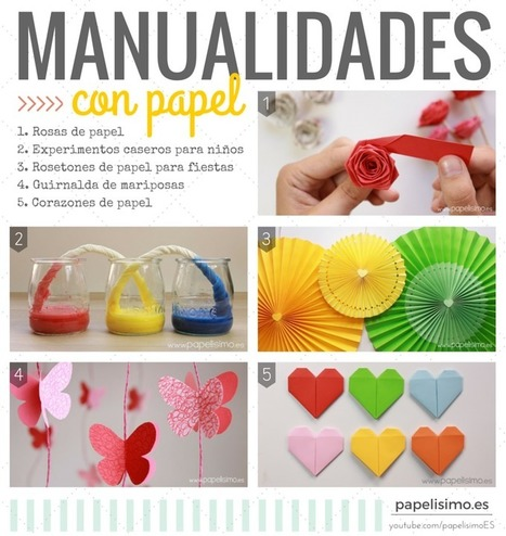 Las 5 manualidades con papel más vistas en Youtube - Papelisimo | Educación y TIC en Mza | Scoop.it