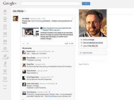 Google VP Urs Hölzle Suggests Facebook Is Ripping Off Google+ | All things Google+ | Scoop.it