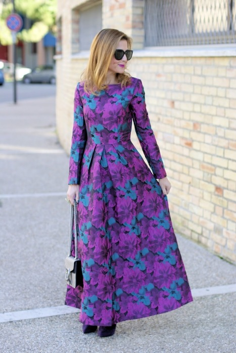 Fabi Shoes, Sicky Eyewear sunglasses, Dezzal floral vintage maxi dress, Gucci bag | Le Marche & Fashion | Scoop.it