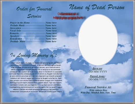 Funeral Program Template For Australia In Microsoft Word To Download For  Free  Funeral Program Word Template