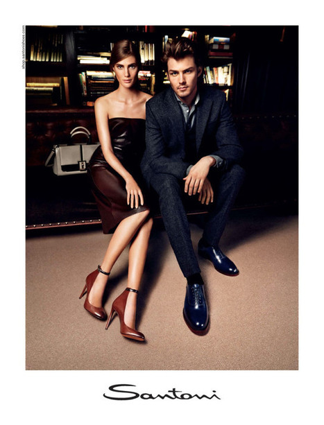 7f6f869c9e409 Santoni Fall Winter 2013 Campaign featuring Lindsay Lullman and Jake Madden