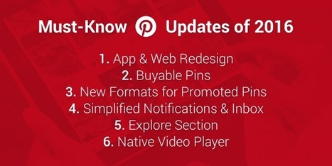 6 Pinterest Updates Marketers Need to Know from 2016 | Pinterest | Scoop.it