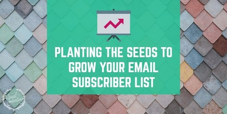 Planting the Seeds to Grow Your Email Subscriber List - Visual Contenting   Marketing Automation   Scoop.it