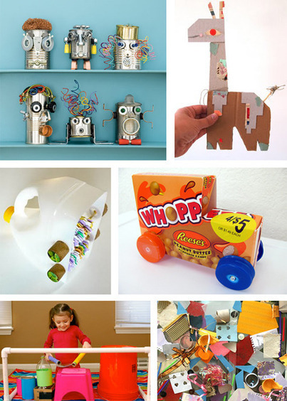 Modern Parents Messy Kids: Trash Diet: Top 10 Recycled Art and Toy Projects | Kids Going Green!! | Scoop.it
