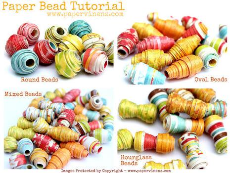 Paper beads: semplici, colorati, creativi | Orecchini Fai da Te: i migliori tutorial | Scoop.it