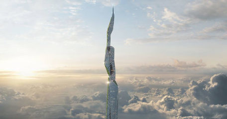 Three-mile-high futuristic skyscraper has a smog-eating, self-cleaning coating | Societal Resilience, Foodproduction, Mobility, Living, Logistics, Infrastructure | Scoop.it