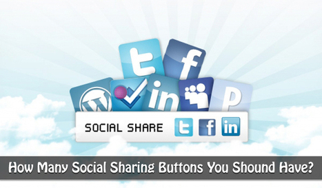 How Many Social Sharing Buttons You Should Have? | Social Media Resources & e-learning | Scoop.it