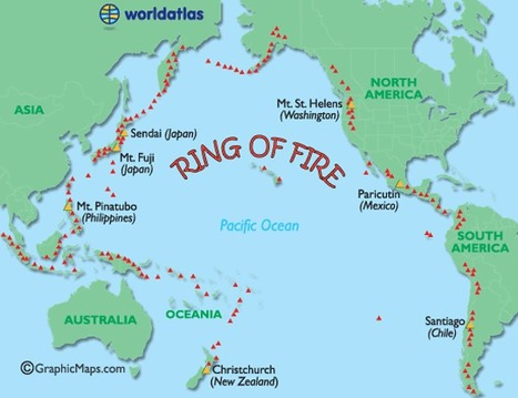 Ring of fire map major world volcanoes activ ring of fire map major world volcanoes active world volcanos map world atlas gumiabroncs Image collections