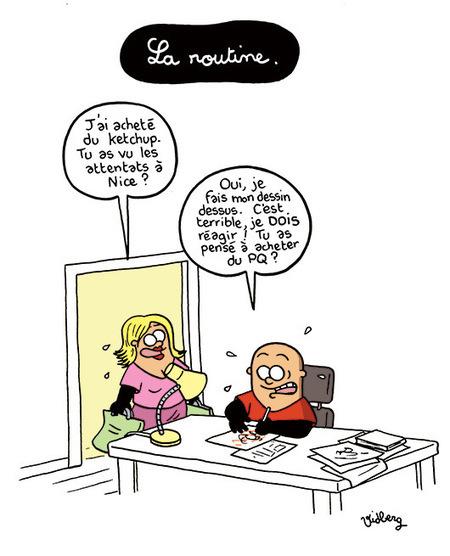 La terrible routine | Dessinateurs de presse | Scoop.it