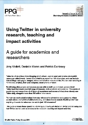 The LSE's new guide to using Twitter in university research, teaching, and impact activities, is now available. | H812 Blk 2 - some food for online discussion | Scoop.it