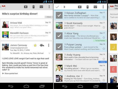 Gmail : une mise à jour en cours de déploiement sur Android | Freewares | Scoop.it