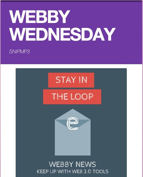 Librarians on the Fly: Webby Wednesday - SnipMP3 | Educational technology | Scoop.it