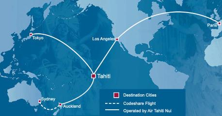Air Tahiti Nui - Route Map   Air Tahiti Nui USA...